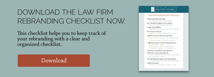 rebranding checklist for law firms