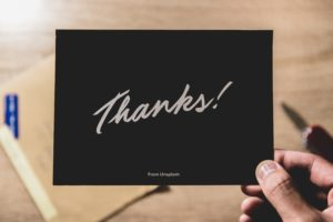Saying Thank You for Law Firms